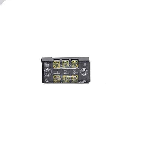 Kit de conectores de encogimiento de calor TB-1503/1504/1506/1508/1510/1512 de fila doble regleta de terminales Bloque 15A 600V Cableado fijo Junta Empalme Terminales de tierra ( Color : TB 1503 )