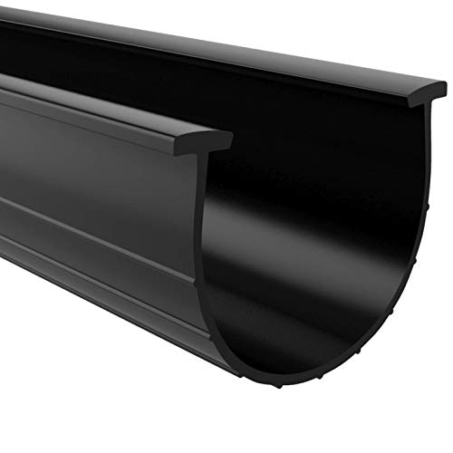Garage Door Bottom Weather Seal T-Ends 20 feet Long and 3.75-4 Inches Width, Black Strip with T-Ends Size 5/16 Inches, Garage Rubber Seal Replacement