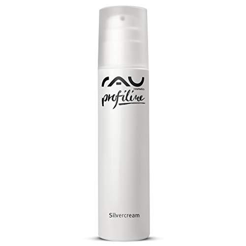 RAU Silvercream Profiline 200 ml - Crème visage aux microparticules d'argent très poreux et au zinc, pour les peaux à problèmes, impures, irritées, acnéiques