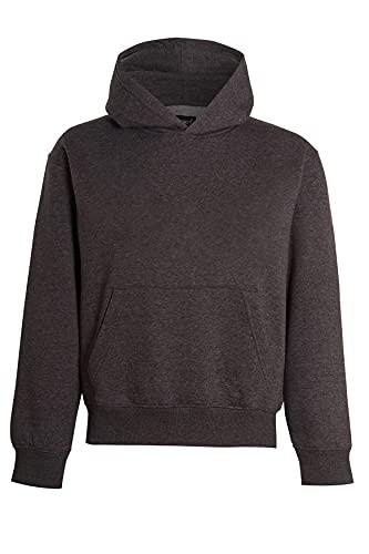 Unisex Boys & Girls Plain Pullover Hoodies Without Zip Boys Sweatshirt Hooded Top Jumper School Wear Hoodies UK Size 5-13 Years (Charcoal, 5_years)