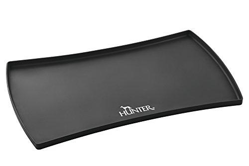 HUNTER SELECTION Napfunterlage aus Silikon, Bodenschutz, hoher Rand, 48 x 30 cm, schwarz