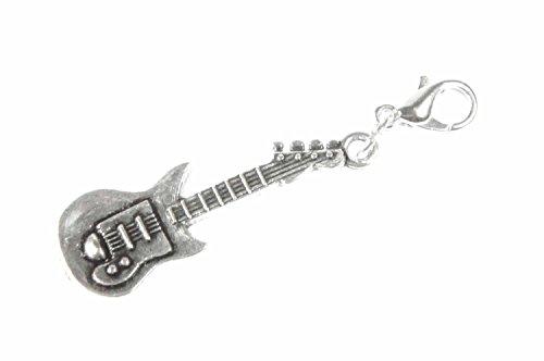 Miniblings Guitarra eléctrica de Charm Gitarrencharm Plata Estrella de la música de Banda