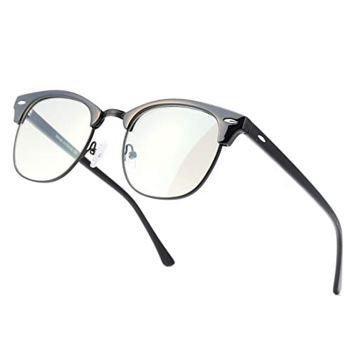 Kimorn Photochromic Blue Light Blocking Glasses Semi Rimless Frame Filter