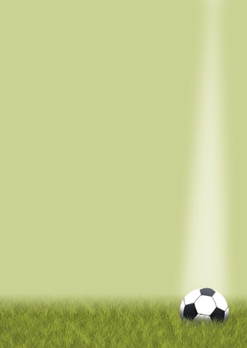 Briefpapier Sport Fußball 20 Blatt DIN A4 90 g/m² Motivpapier 5421