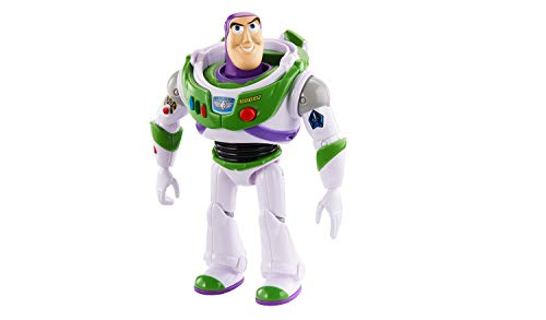 """Disney Pixar Toy Story 4 True Talkers Buzz Lightyear Figure, 7"""" Tall Posable, Talking Character with Authentic Movie-Inspired Look and 15+ Phrases"""