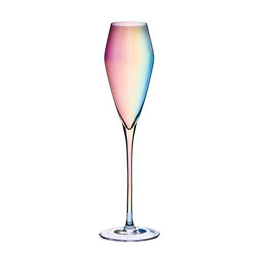 Copa de vino tinto de 10 onzas, 300 ml, cristal de alta calidad, perfecto para fiestas, bodas y regalos, juego de 2 (colorido vaso de vino) (color: 220 ml/8 onzas)