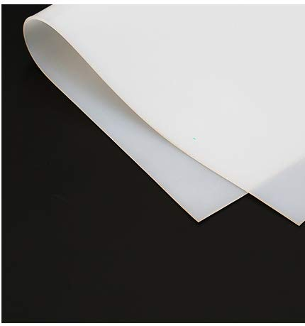 Yikai 20'x20' 500x500mm 1mm 0.033inch Thicknes Clear Silicone Rubber Sheet Plate Resist Mat High Temp Transparent Heat Resistant Gasket Super Clear Flexible