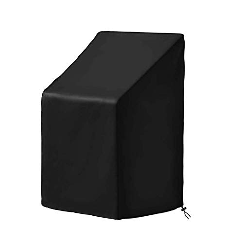 ALGFree Outdoor Chair Cover Protector, Garden Furniture Covers, Waterproof Tablecloth High Back Garden Seat Patio Rattan Armchair, 14 Sizes (Color : Black, Size : 70x79x102/70CM)
