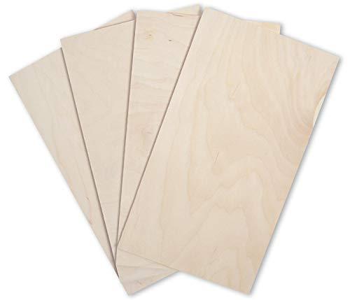 3 mm multiplexplaat gesneden knutselaars doe-het-zelvers knutselen DIY op maat gezaagde multiplex platen van Duitse houtfabriek hout massief natuurlijke kleur onbehandeld Breite 30 cm, Länge 100 cm naturel