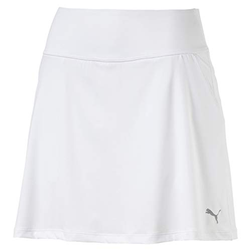 PUMA Damen Pwrshape Solid Knit Skirt Rock, Bright White, M