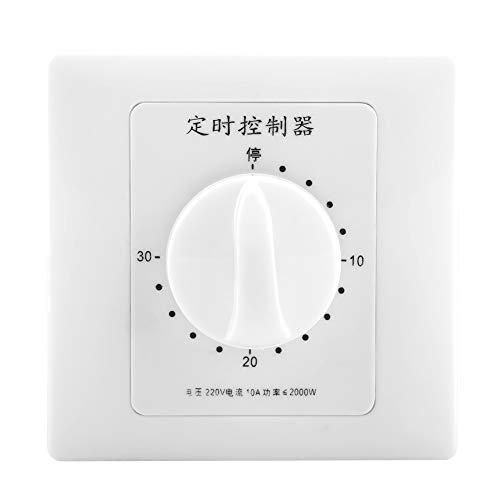 Intelligente Zeitschaltuhr 220V Mechanische Wasserpumpen-Timer Multifunktions-Countdown-Zeitschaltuhr zur Steuerung von Wasserpumpe, Ventilator, Warmwasserbereiter, Lampe etc(30 Minutes)