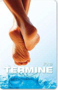 Terminkarten (100 Stück) für Fußpflege, Pediküre - Terminkarte