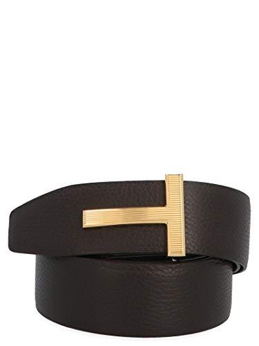 Luxury Fashion | Tom Ford Heren TB246TLCL050C7906 Bruin Leer Riemen | Seizoen Permanent
