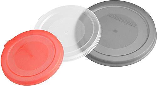 FACKELMANN Konserven- und Dosendeckel, Deckel in 3 verschiedenen Größen, Universaldeckel aus Kunststoff (Farbe: Weiß, Rot, Blau), Menge: 1 Stück