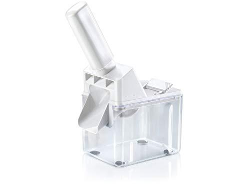 Leifheit Pflaumenentsteiner zum schnellen und leichten Entkernen, Pflaumenentkerner für sauberes Trennen, pflegeleichter Zwetschgenentkerner