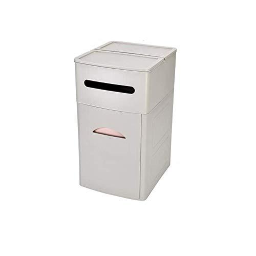 CCJW Gabinete de Basura Tipo cajón Grande, Bote de Basura de plástico for el hogar, Barril de Papel de residuos de Almacenamiento Cuadrado kshu