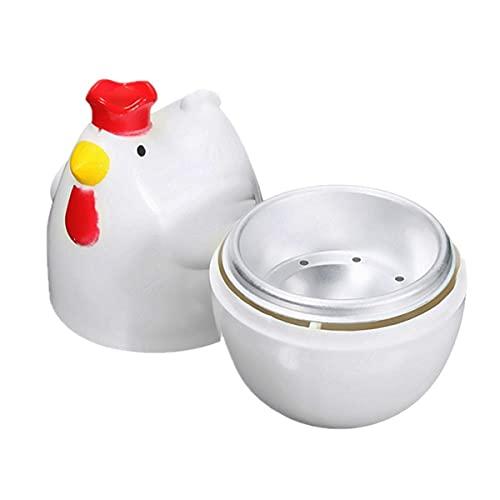 Yantan KüKenffRmig 1 Gekochtes Ei Dampfgarer Dampfgarer Stoessel Mikrowelle Eierkocher Kochutensilien Kuechenhelfer Zubehoer Werkzeuge