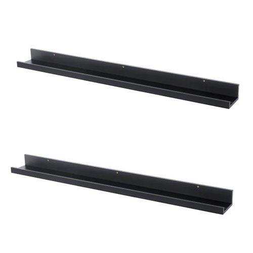 Unbekannt IKEA MOSSLANDA Bilderleisten in schwarz; (115cm); 2 Stück