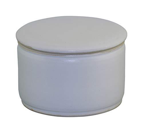 Original Französische Wassergekühlte Keramik Butterdose, Keine Harte Butter Zum Frühstück Mehr, Immer Frische Und Streichfähige Butter, ca 250 gr Butter, Weiß Matt Z-G