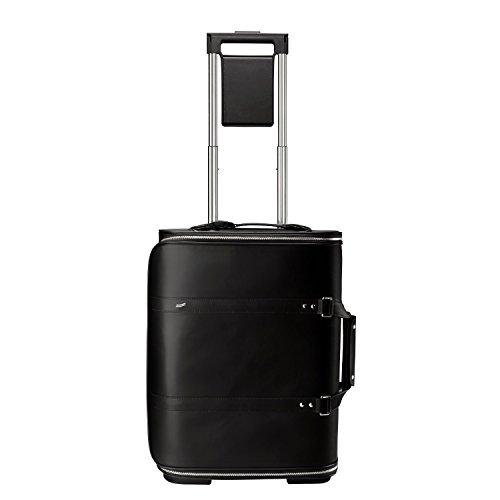 Vocier F38 Leather Zero Crease Luggage System (Black)
