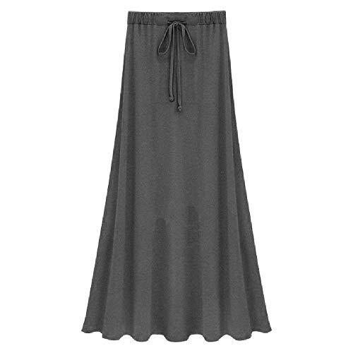 N\P Faldas de cintura para mujer Faldas de punto delgadas y largas divididas Faldas de punto