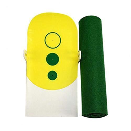 BAODI Alfombra de Entrenamiento de Golf Práctica de Golf Pad Putter Golf Green Fairway Trainer con la línea de apuntar (Color : Yellow)