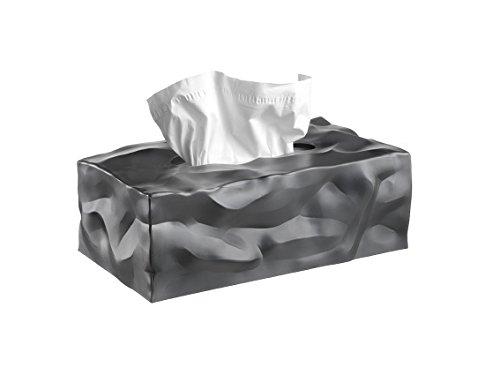 Essey Kosmetiktücher-Box Wipy Cube II, rechteckiger Taschentuchspender, Design Taschentuchbox, graphite