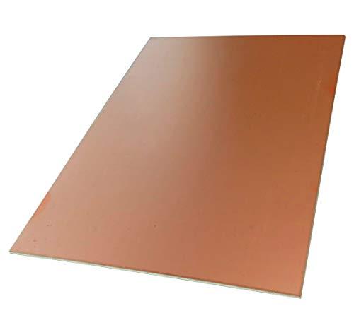 AERZETIX: Piastra foglio di rame per circuito stampato 233/160/1.5mm 18µm resina epossidica fibra di vetro C40695