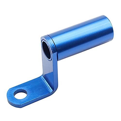 ooege OOE Moto retrovisor Espejo Montaje Soporte Soporte Soporte de Abrazadera Barra Manillar Soporte Teléfono Partidor Palancas Múltiples Funciones indefinidas (Color : Blue)