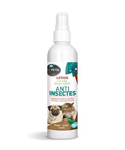 biovetol–Loción insectos–antipulgas para perro y gato–240ml