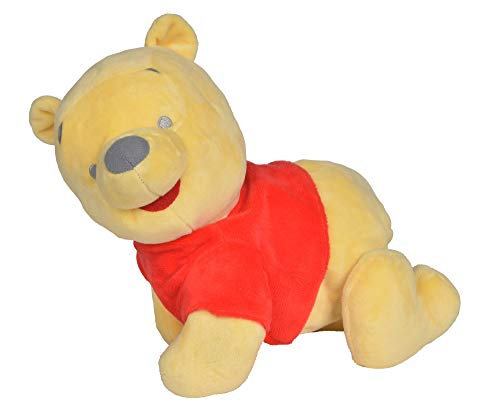 Simba  6315876875 Disney Winnie the Pooh, Puuh, Krabbel mit mir, Plüschtier, Babyspielzeug, singt ein Lied, für Kinder ab den ersten Lebensmonaten geeignet