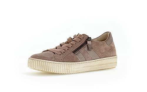 Gabor Damen Low-Top Sneaker, Frauen Sneaker Low,Turnschuhe,Laufschuhe,Women's,Woman,Lady,Ladies,Halbschuhe,straßenschuhe,Dark-Rose,39 EU / 6 UK