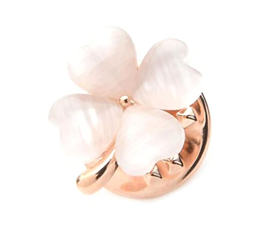 MENGHUA Simple Leaf Collar Pin Fashion Collar Button Costume Homme et Femme Chemise Col Décoration Petite Broche Rose Real Gold and White Cat's Eye (No. 10)