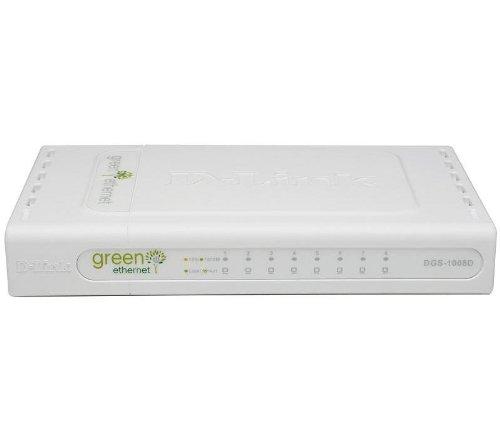 D-Link DGS-1008D/E switch - Switch de red (No administrado, 1000BASE-T, 100BASE-T, 10BASE-T, IEEE 802.1p, IEEE 802.3, IEEE 802.3ab, IEEE 802.3u, IEEE 802.3x, 4000 entradas, 10/100/1000 Mbps, 16 Gbit/s)