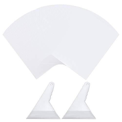 100 hojas de papel de pintura de diamante pintura de diamante antiadherente cubierta de reemplazo de papel de liberación de doble cara papel antiadherente reutilizable para bordado de diamante