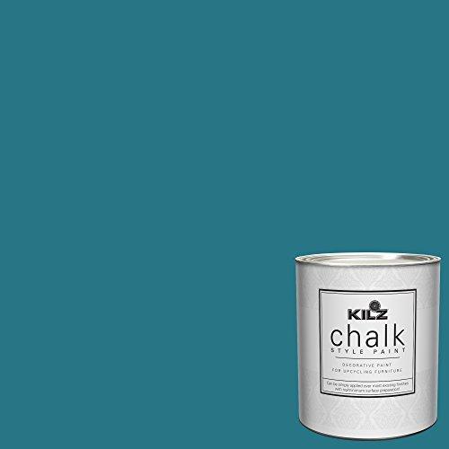 KILZ 00004504 Interior Chalk Style Ultra Flat Decorative Paint for Furniture, 1 Quart, Basic Teal