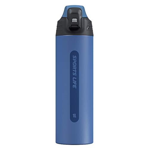 Botella De Agua Aislada De Acero Inoxidable Reutilizable 316 Taza De Viaje Al Vacío 1000ml, Adecuado para Las Aulas De Interior Y Oficinas De Estudiantes