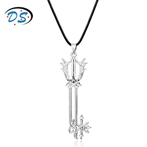YUNMENG Hot Game Kingdom Hearts Oblivion Blade Necklace for Man Boys Leather Rope Key Pendants Necklaces