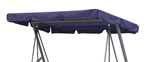 GRASEKAMP Qualität seit 1972 Ersatzdach Universal Hollywoodschaukel Blau Ersatz-Bezug Sonnendach Dachplane