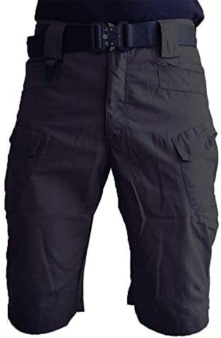 Nicwagrl Men's Shorts, Shorts Men Short Pants Mens Multi-Pocket Casual Cargo Shorts Male Clothing (Color : Black, Size : XXXX-Large)
