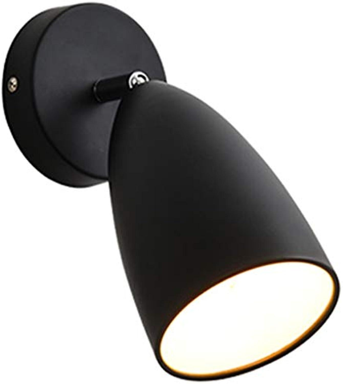 LED Wandleuchte, Scheinwerfer Nachttischlampe Lesen Sicherheit Balkon Gang Treppe Schalter Dekoration Einzelkopf (Farbe   G)