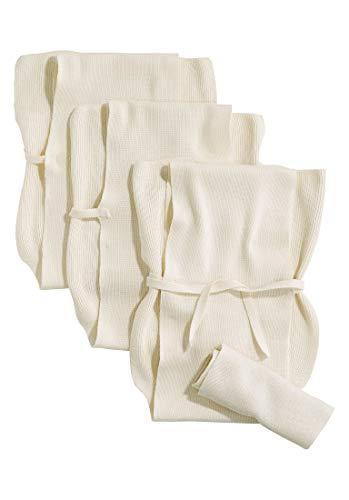 hessnatur Baby Mädchen und Jungen unisex Strickwindel im 3er-Pack aus reiner Bio-Baumwolle natur 75X85