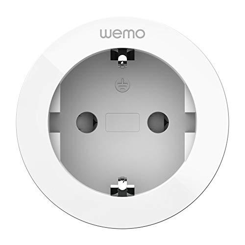 Wemo Enchufe inteligente (Smart Plug para hogar digital, controla luces y dispositivos remotamente, funciona con Apple HomeKit, toma de corriente WiFi inteligente)