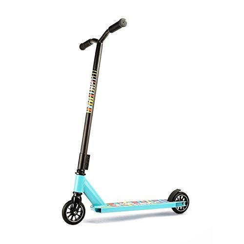 MYAOU Stunt Scooter Street Pro Kick/Push 360 Spin Tricks Edition para niños, Adultos, niños, Adolescentes, Ruedas de aleación de 110 mm