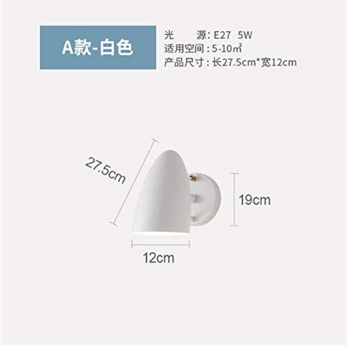 E27 industriële wandlamp bedlampje zwart spiegellamp badlamp hoogslaper