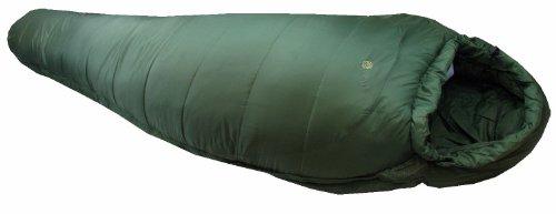 Highlander Pro-Force - Saco de Dormir Momia para Acampada, Color Verde