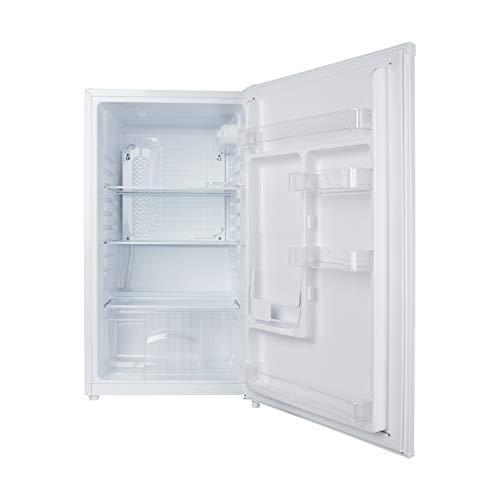 MEDION Kühlschrank (88 Liter, 85cm Höhe, 2 x Glasablage, transaprente Gemüseschublade, Eierablage, Freistehend, wechselbarer Türanschlag, MD37225)