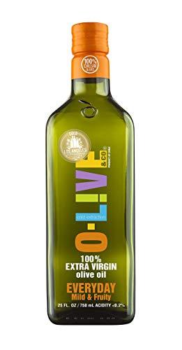 O-Live & Co. Everyday Extra Virgin Olive Oil - 25 Fl Oz (Glass Bottle)- Non GMO-Kosher
