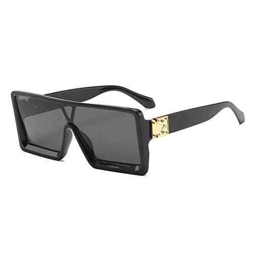 ZZOW Fashion Ins Gafas De Sol Cuadradas De Gran Tamaño Populares para Mujer Diseñador De La Marca Gafas De Sol De Una Pieza para Hombre Sombras Uv400 Trend Gafas De Sol