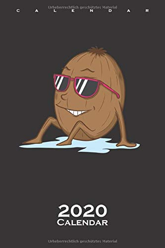 Chikoo Kiwi with sunglasses Calendar 2020: Annual Calendar for Fruit lovers and connoisseurs of fruit